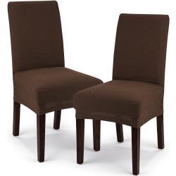 4Home Multielastyczny pokrowiec na krzesło Comfort, brązowy, 40 - 50 cm, zestaw 2 szt.