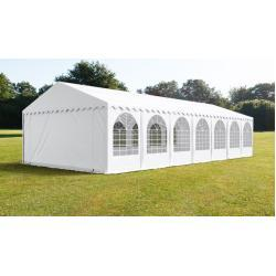 6x14 Namiot imprezowy, PVC trudnopalny biały