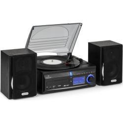 Auna DS-2 Wieża stereo gramofon CD rekorder MP3 USB SD AUX-In UKF/MF głośniki