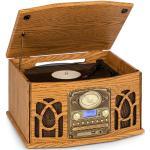 Auna NR-620 DAB, wieża stereo, gramofon, DAB+, odtwarzacz CD, drewno, kolor brązowy