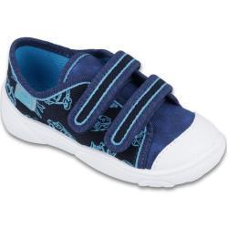 Ciemnoniebieskie Buty dla chłopców Rzepy marki Befado