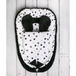 Belisima Kokon niemowlęcy z kołderką Minky Sweet Baby, czarno-biały