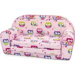 Bino Mini sofa różowy, Sówki