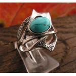 Capolinea - srebrny pierścionek z turkusem