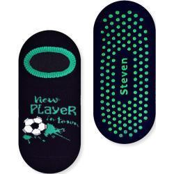 Chłopięce stopki frotte ANTYPOŚLIZGOWE- FOOTBALL wzór z piłką nożną