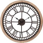 Clayre & Eef 5KL0134 zegar/zegar ścienny duży wiejski styl kuchnia/salon ok. Ø 60 x 4 cm / 1 bateria AA (nie wchodzi w zakres dostawy)