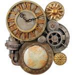 Design Toscano Gears of Time steampunk zegar ścienny rzeźba, średni 43,25 cm, żywica poliestrowa, pełny kolor
