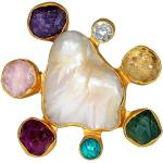 Dinari Jewels, Lilu Ring Żółty, female, rozmiary: One size