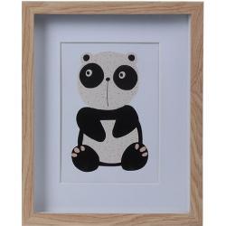 Drewniana ramka na fotografię Hatu Panda, 22,5 x 3 x 27,8 cm