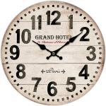 Drewniany zegar ścienny Grand hotel Paris, śr. 34 cm