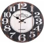 Drewniany zegar ścienny Kensington, śr. 34 cm