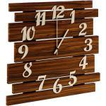 Drewniany zegar ścienny w odcieniu palisandru - Samar