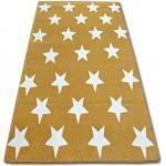 Dywan SKETCH - FA68 złoto/kremowy - Gwiazdki Gwiazdy 80x150 cm