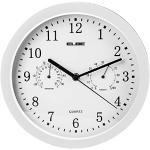 EElbe Rp-2005-B zegar ścienny z termometrem i higrometrem, biały