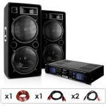 """Electronic-Star System DJ PA""""DJ-42"""", wzmacniacz, głośniki 3000W"""
