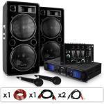"""Electronic-Star ZESTAW dla DJ'a """"DJ-20.1"""" Wzmacniacz nagłośnieniowy Kolumna 2000 W"""