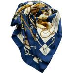 Hermès Vintage, Używany jedwabny szal Cliquetis Niebieski, female,