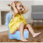Homcom® nocnik dla dzieci toaleta treningowa wyjmowany pojemnik plastik niebieski