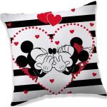 Jerry Fabrics Poduszka Mickey i Minnie in Stripes, 40 x 40 cm
