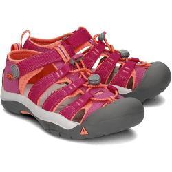 Różowe Buty sznurowane dla dzieci Rzepy na lato marki Keen Newport