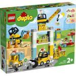Klocki LEGO Duplo - Żuraw wieżowy i budowa 10933