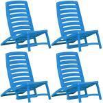 Komplet krzeseł plażowych Lido - niebieski