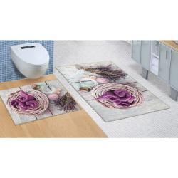 Komplet łazienkowy bez wycięcia Lawenda, 60 x 100 cm, 60 x 50 cm