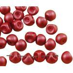 Kraftika 12pcs pastel masa perłowa ciemno-koralowej-czerwony grzyb