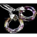 Kryształy Duże Kolczyki Vitrail Ring Certyfikat
