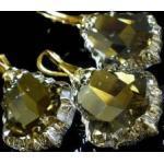 Kryształy Duży Komplet Złote Srebro Silver 28mm