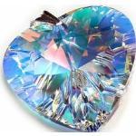 Kryształy Duży Wisiorek 40Mm Aurora Heart Srebro