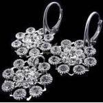 Kryształy Komplet+łańcuszek Crystal Flow Lux