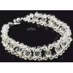 Kryształy Piękna Bransoletka CRYSTAL SREBRO ŚLUB