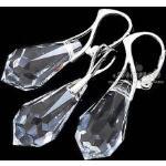 Kryształy piękny komplet CRYSTAL 22 MM SREBRO