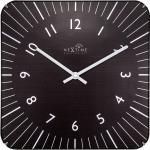 Kwadratowy zegar na ścianę Alex Radio Control Nextime 35 x 35 cm, czarny (3240 ZW)