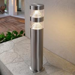Lampa na cokół LANEA z LED, stal szl., 40 cm