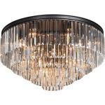 Lampa sufitowa kryształowa z dużych, sztabkowych kryształów Vitaluce (VE1805-1/8+4+4+1PL)