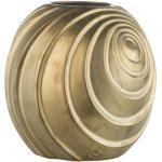 Lene Bjerre Wazon ceramiczny spiralny złoty 16 cm