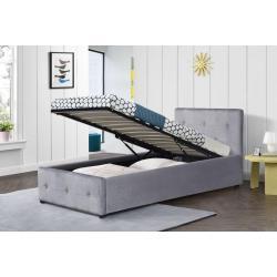 Łóżko Tapicerowane 90x200 Sfg012a Popiel Welur