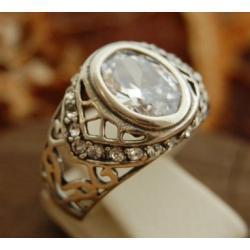Missandei - srebrny pierścień z cyrkoniami