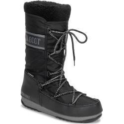 Przecenione Czarne Kozaki damskie ocieplane na zimę marki Moon Boot - do 3cm