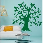 Naklejka welurowa drzewo 2518