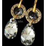 NOWE Kryształy piękny komplet COMET GOLD