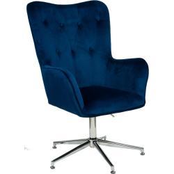 Nowoczesny Fotel Obrotowy My-9007-1 Granatowy Welur