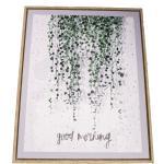 Obraz na płótnie w ramie Good Morning, 40 x 50 cm
