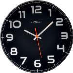 Okrągły zegar ścienny Classy Nextime 30 cm, czarny (8817 ZW)