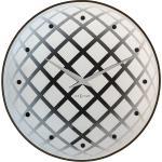 Okrągły zegar ścienny z wahadłem Pendula Nextime srebrny (8185 ZI)
