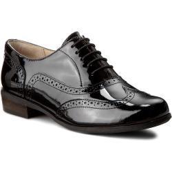 Oxfordy CLARKS - Hamble Oak 203506494 Black Patent