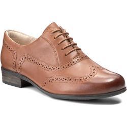 Oxfordy CLARKS - Hamble Oak 203506744 Dark Tan Leather