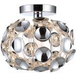 Plafon LAMPA sufitowa FERRARA LP-17060/1C Light Prestige owalna OPRAWA glamour chrom